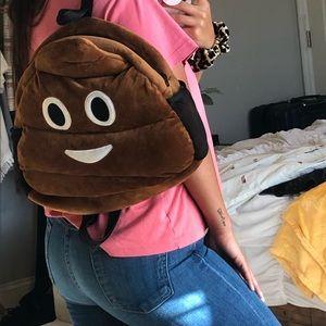 """New """"Poop"""" Emoji book bag Backpack bag!"""